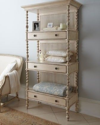 make one out of drawers...LOve this for additional bathroom storage!