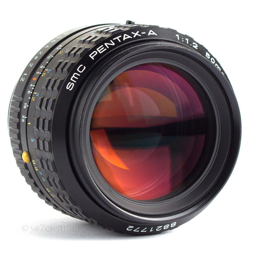 Smc 50mm F1 2 Fast Prime Lens Pentax A Pk Fit Dslr Adaptable Eos Bmcc Mft Pka Pentax Vintage Cameras Vintage Lenses