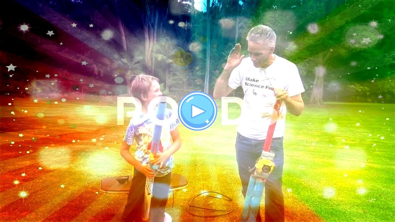 dad and son adapt toy rocket launcher for extra fire power Stock Footage sonadapttoyNuttyNutty professor dad and son adapt toy rocket launcher for extra fire power Stock...