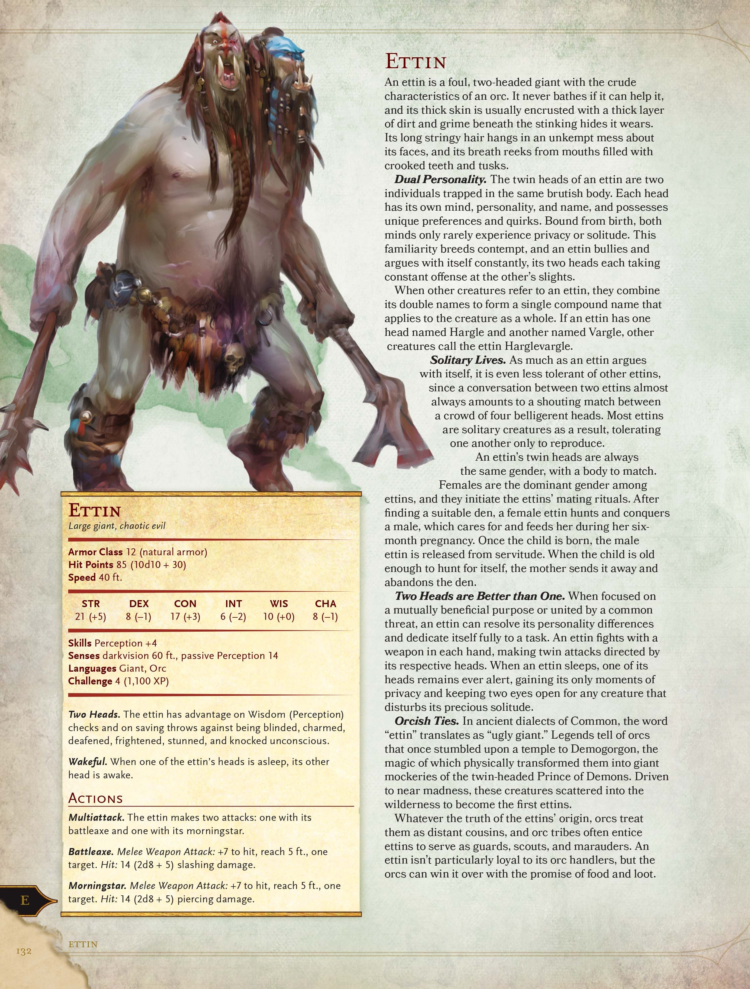 Ettin Dungeons And Dragons 5e, Dungeons And Dragons Homebrew, Dragon Rpg,  Dungeon Maps