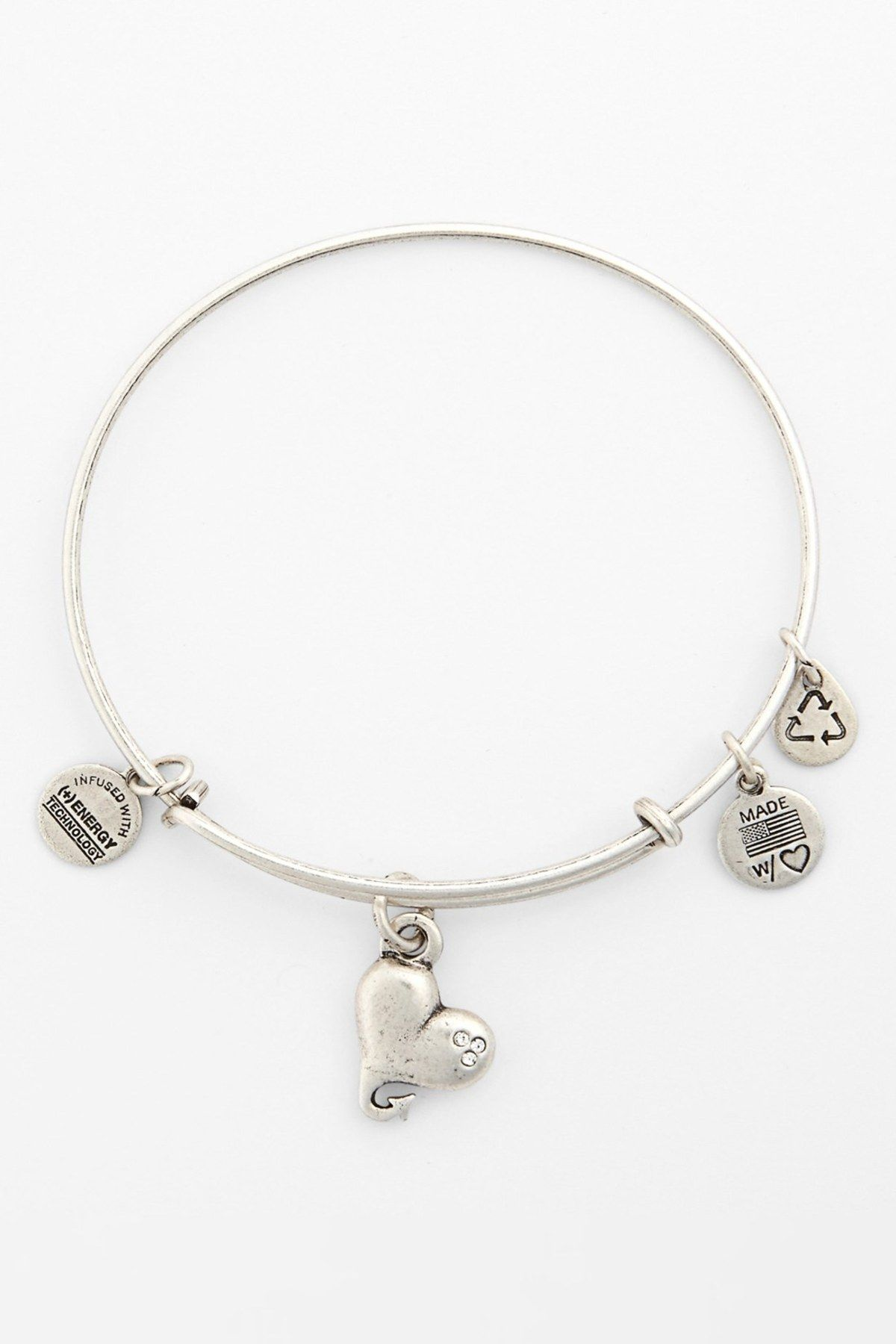 Alex and ani cupids heart expandable wire bangle