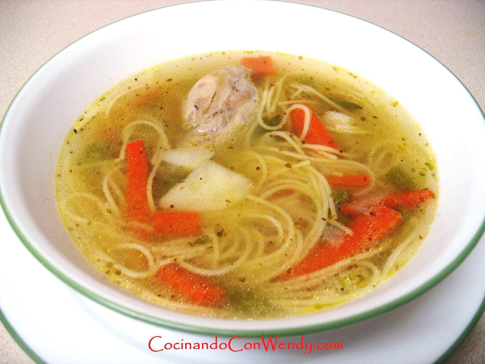 Receta Sopa De Pollo Clasica