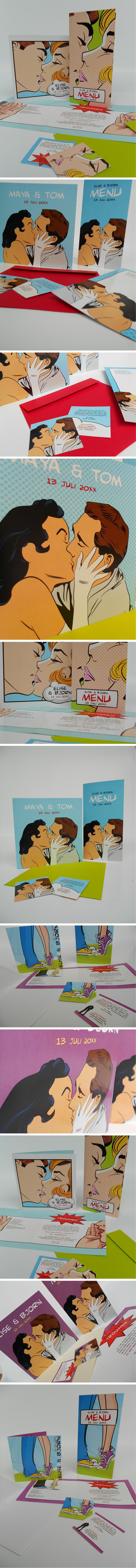 Pop Art trouwkaarten