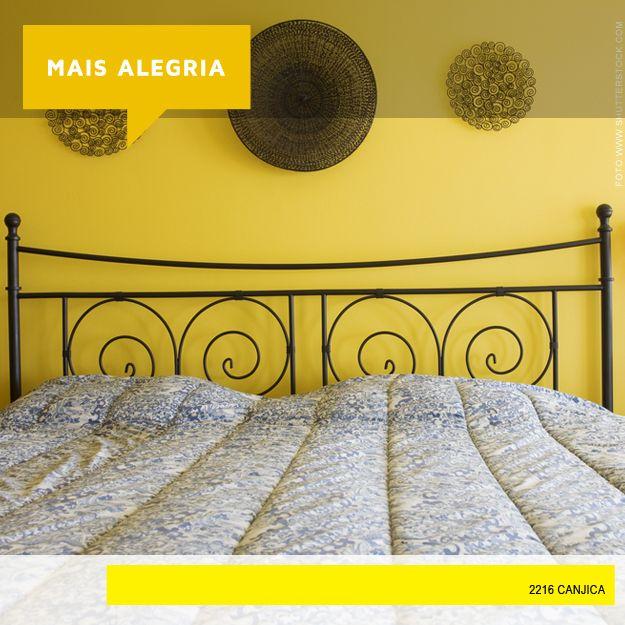 Que tal encher seu quarto com a cor da energia? Nosso tom tendência levará os raios do sol para iluminar sua casa! #Decor #Canjica