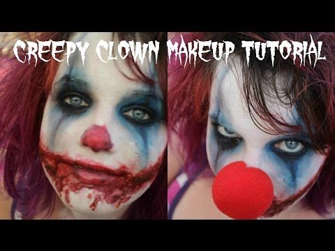 Easy Scary Evil Clown Halloween Makeup Tutorial Youtube Scary Clown Makeup Halloween Makeup Tutorial Clown Makeup Tutorial