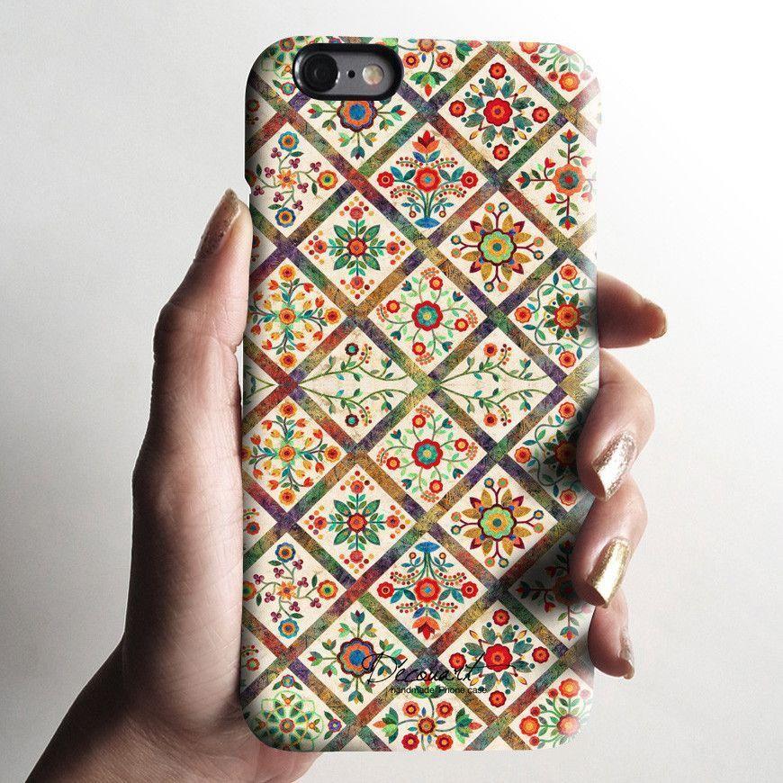 Vintage floral iPhone 7 case, iPhone 7 Plus case S342