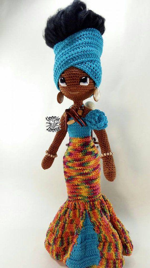 Jamila Zahara Black crochet doll,African American doll,OOAK doll,Amigurumi doll,Handmade doll,Black Beauty doll,Stuffed doll,Colecttor doll #africanamericanhair