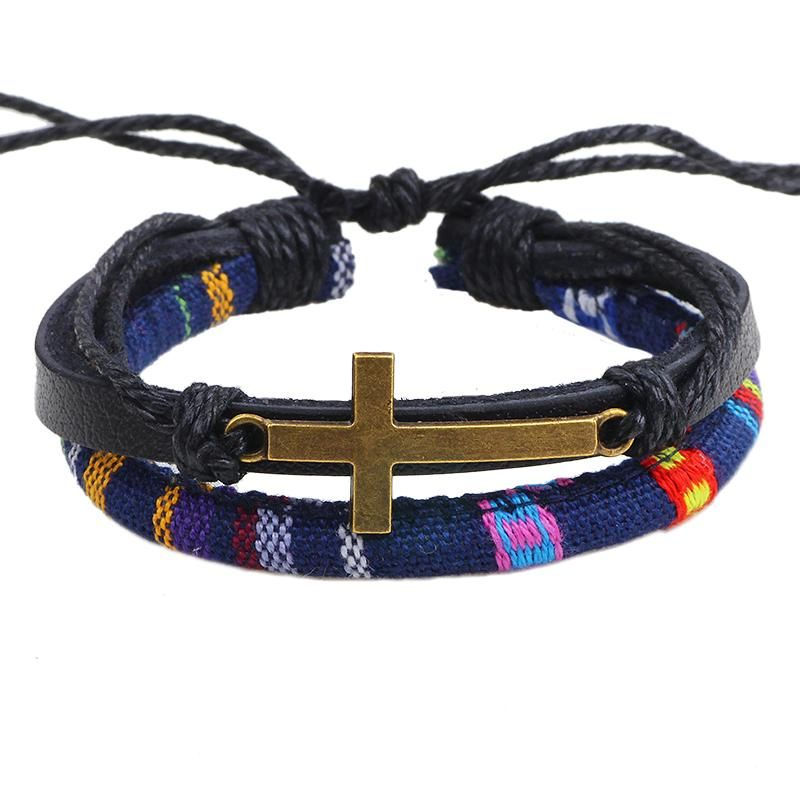 8139f6a25493f Cross Rope Leather Bracelet #Jesus #Christ #Christian #Jesussaves ...
