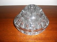 VINTAGE 22 HOLE GLASS DOMED FLOWER FROG