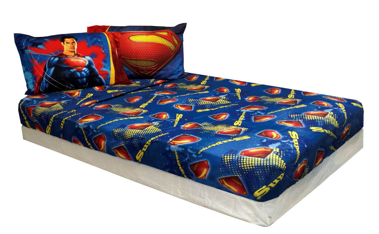 Dc Comics Superman Bedding Set Super Steel Comforter Sheets Dc
