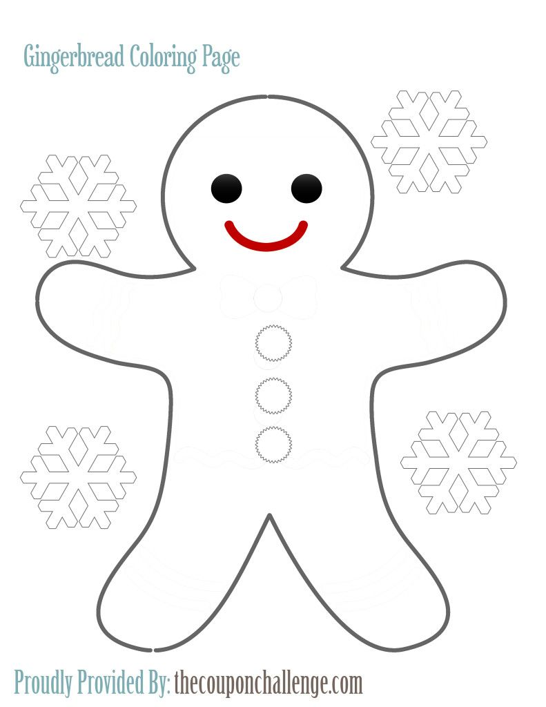 Free Printable Gingerbread Man Coloring Page | Fun things to do ...