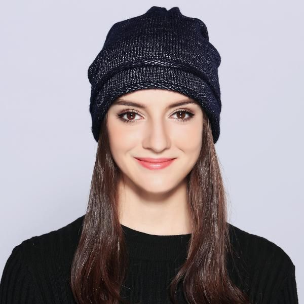 00807ad172d MOSNOW Hats For Women Unique Design Wool Knitted 2017 Autumn Winter Brand  New Shining Warm Hat Female Skullies Beanies  MZ703