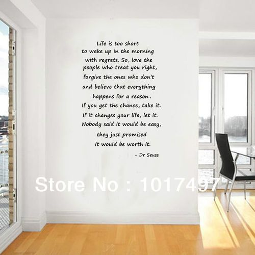 Inspirational Wall Decor large size dr seuss quotes life is too short inspirational wall