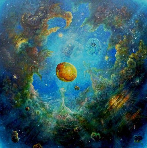 Painting Micromaro - Artist Peter Rodulfo. As above so below
