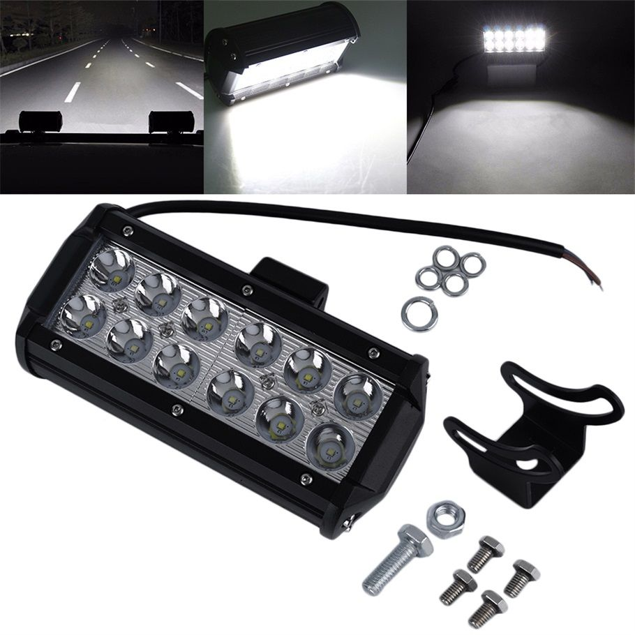 12v 24v Waterproof 7 Inches 36w Off Road Work Light Flood Led Boat Marine Rocker Switch Panel Circuit Breaker 4 Switches Ebay Cheap Interior Buy Quality For Car Directly From China Suppliers