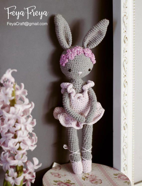 Bailarina Amigurumi- Bailarina Em Crochê (mini) - R$ 60,00 em ...   749x570