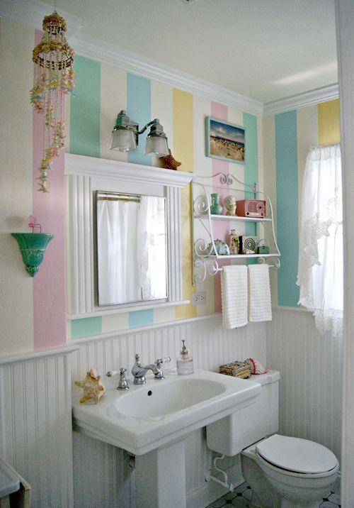 Decoración de cuartos de baño pequeños con ideas vintage 9 ...