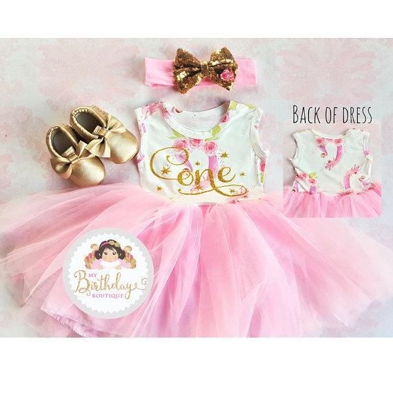 04e3ee1e397a52 Unicorn 1st Birthday tutu dress outfit