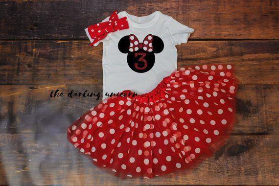 Minnie Three infant girl bodysuit 0c558e76ee8c