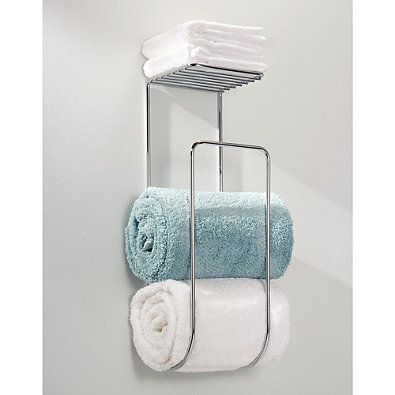 Idesign Classico Towel Rack In Chrome With Images Bath Towel Storage Towel Storage Towel Rack Bathroom