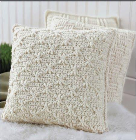 Aran Pillows to Crochet ~ Book Review | Crochet pillow ...