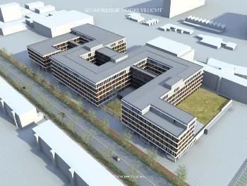 EGM Architecten maakte een aantal 3D-impressies van het nieuwe ziekenhuis.