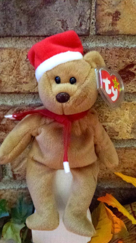 Ty Beanie Baby 1997 Holiday Teddy Bear  4200 plush Pvc Pellets MWMT Retired  xmas  Ty a6e823bfca6