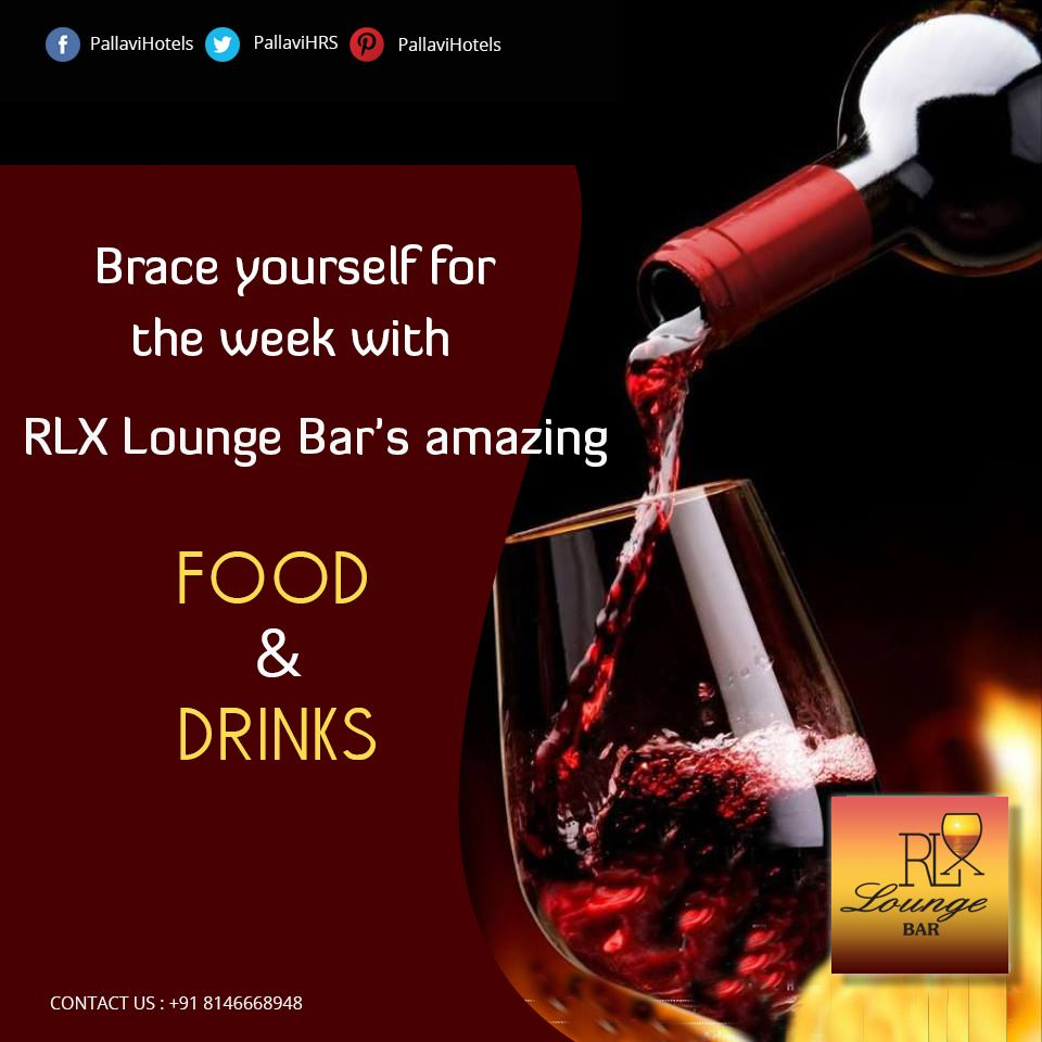 De Stress Your Week With Rlx Lounge Bar S Amazing Food Drinks And Sports Amazing Food Drinks Hotels And Resorts