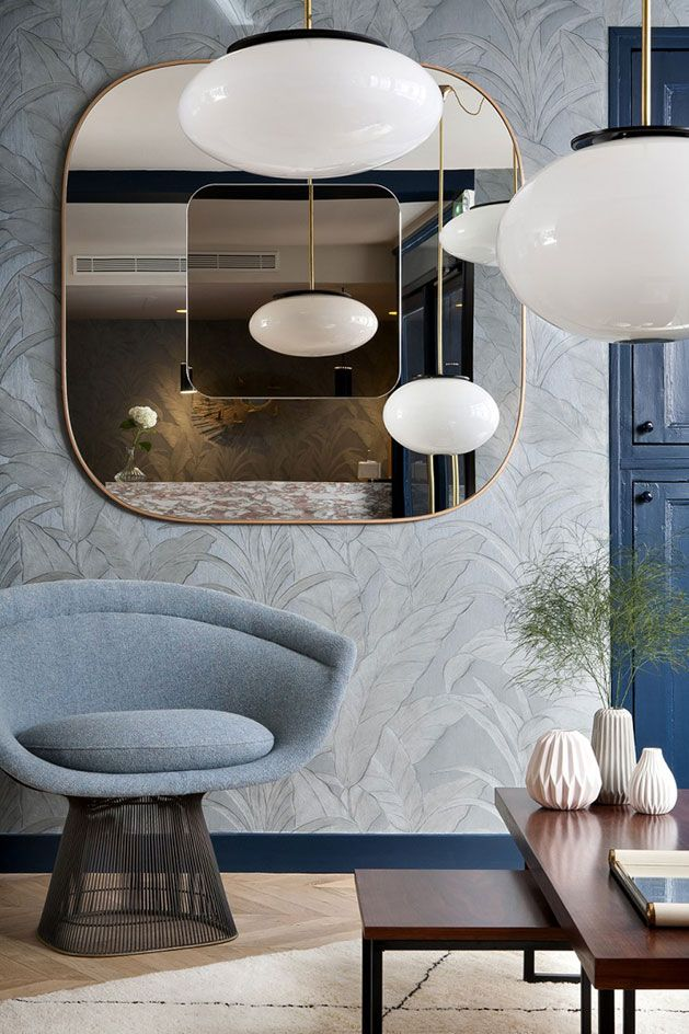 hotel henriette paris salon moderne miroirs decoration luxe maison design meuble