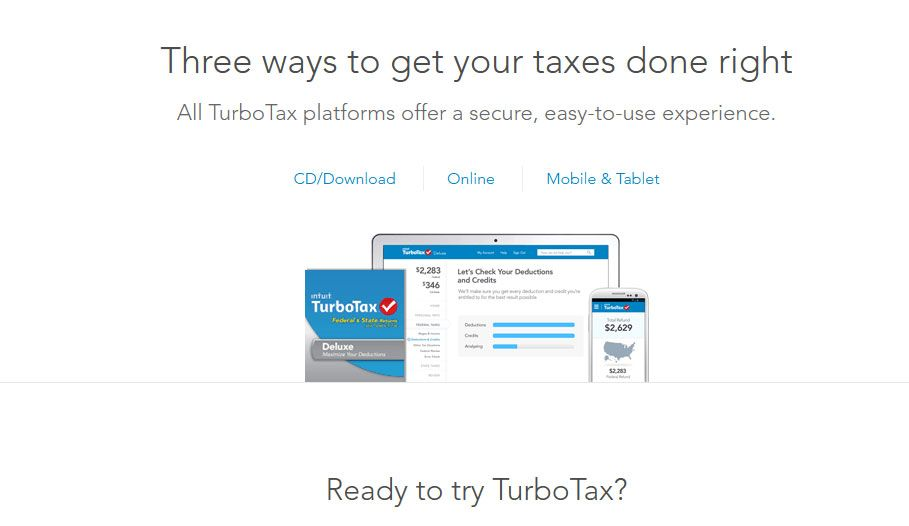 Turbotax 3 Ways To Do Taxes Right Turbotax Tax Refund Irs Taxes