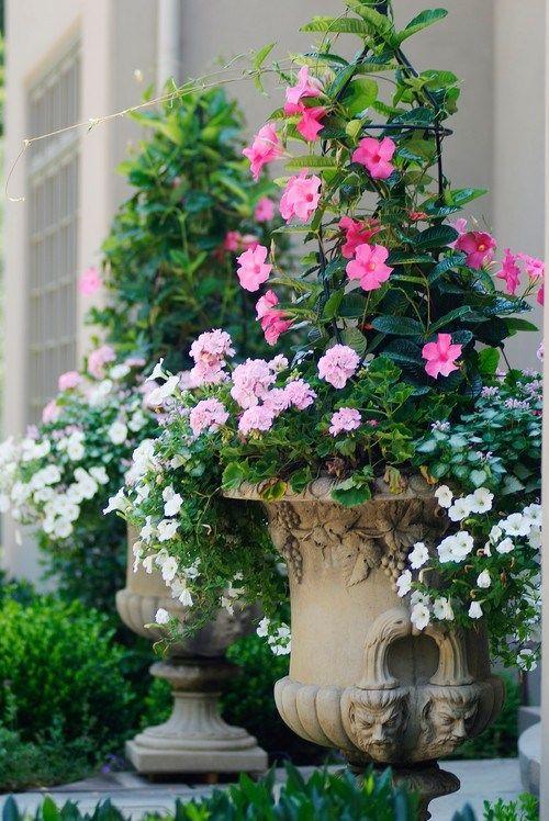 French Country Garden Planters For Spring Garden