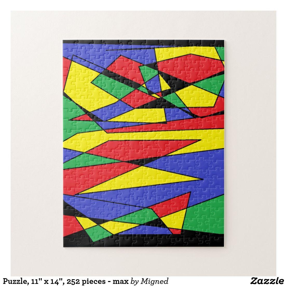 Puzzle 11 X 14 252 Pieces Max Jigsaw Puzzle Zazzle Com