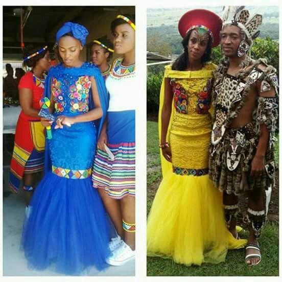 Modern Zulu bride outfits