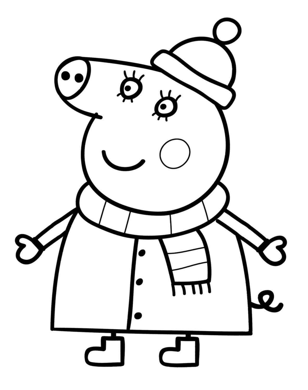 Coloriage Peppa Pig à colorier - Dessin à imprimer ...