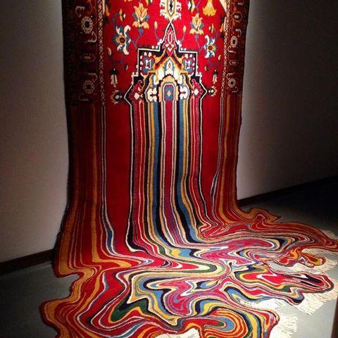 Melted rug
