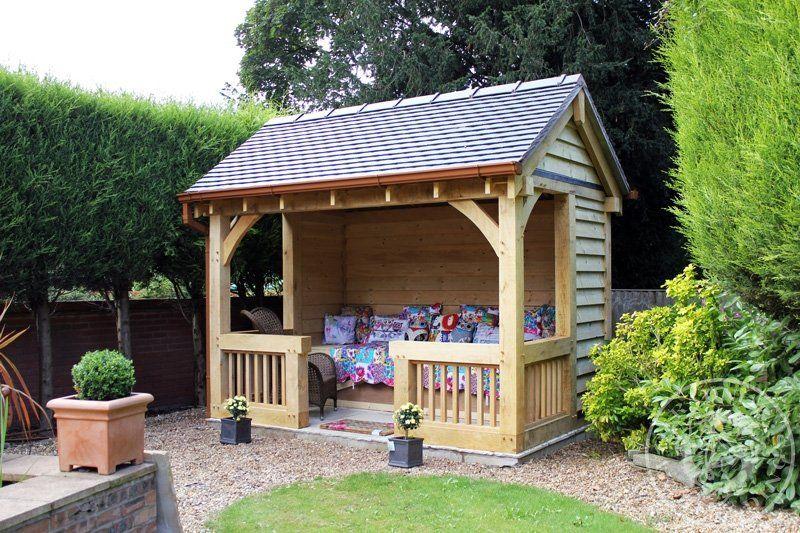 Garden Shelter In 2020 Summer House Garden Oak Gazebo Garden