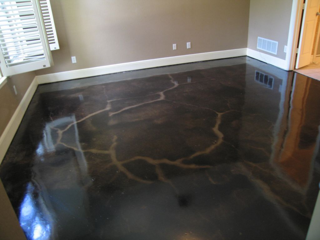 Dark Stained Concrete Floor Dallas Fort Worth Flooring Solutions Acid Stain