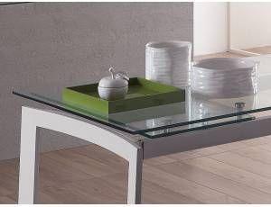 Tavolo Vetro Trasparente Allungabile.New Elegant Tavolo Allungabile In Vetro Tavolo Rettangolare
