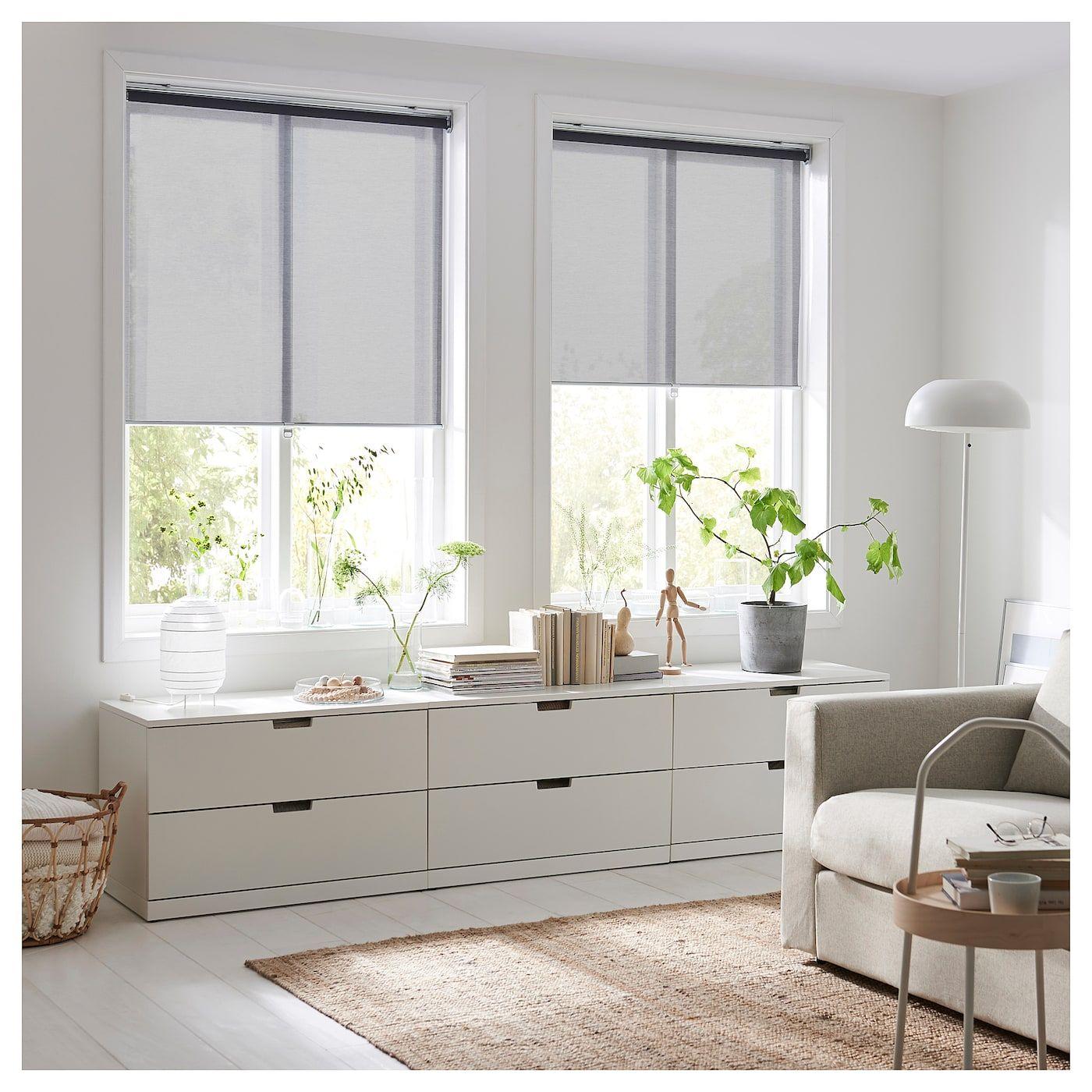 """SKOGSKLÖVER Roller blind - gray 17x17 ¾ """"  Roller blinds, Ikea"""