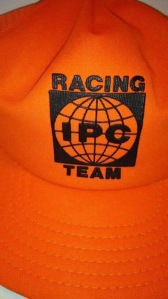 VTG ICP Racing Team Hat Blaze Orange Trucker Snapback 1970 s Mesh  IPC aac0b9061da9