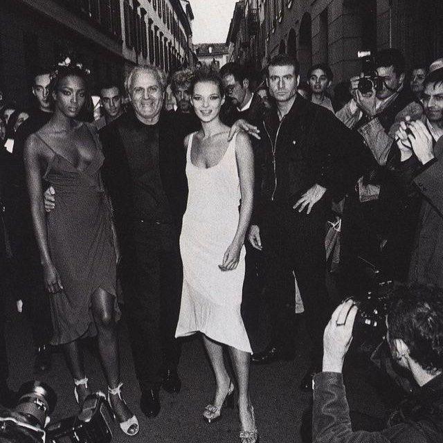 Naomi Campbell Kate Moss Flaunts Their Sizzling: Kate Moss, Naomi Campbell And Gianni Versace Photographed