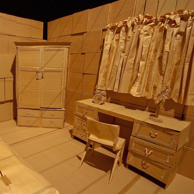 Cardboard Set Bedroom Set Design Theatre Scenic Design Stage