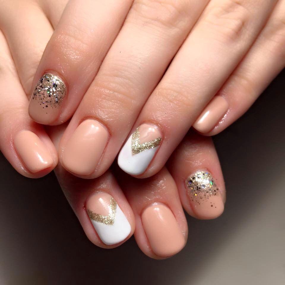 Light peach nail design too cute peach nails nail