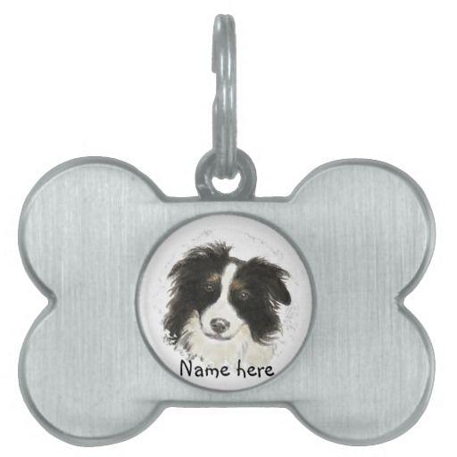 Custom name pet tag border collie dog discover best ideas about dog custom name pet tag border sciox Choice Image