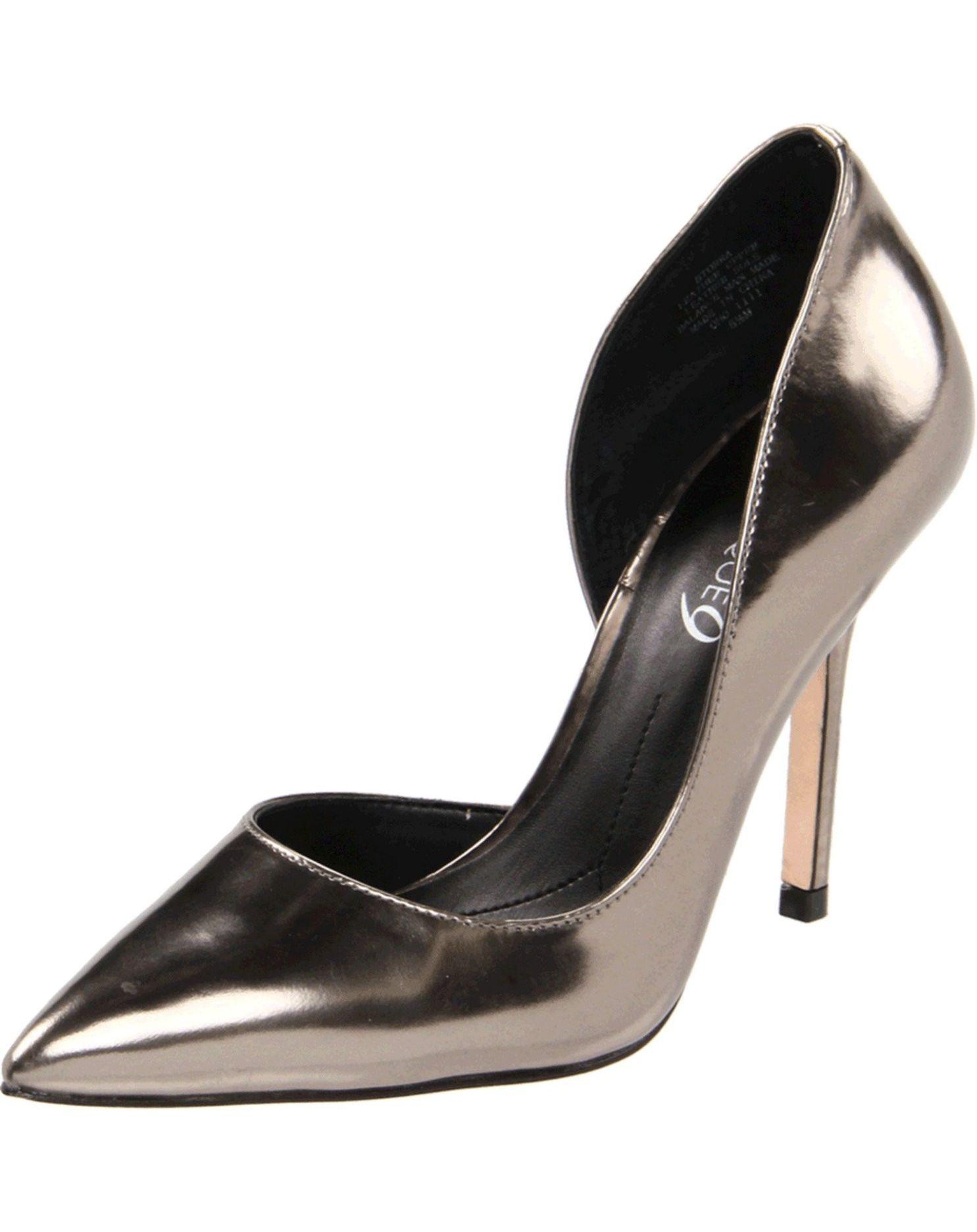 Dark Silver Shoes Heels