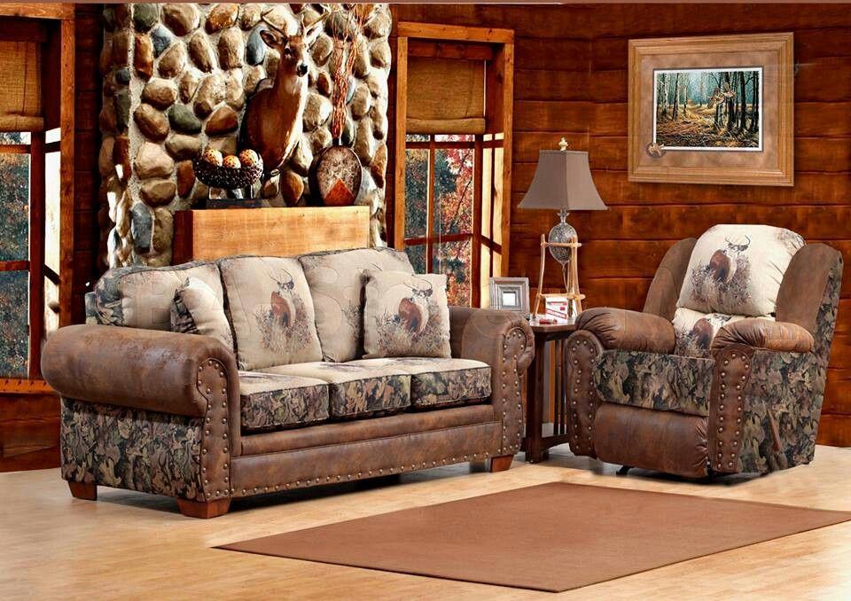 Rustic Living Room Furniture, Camo Living Room Ideas