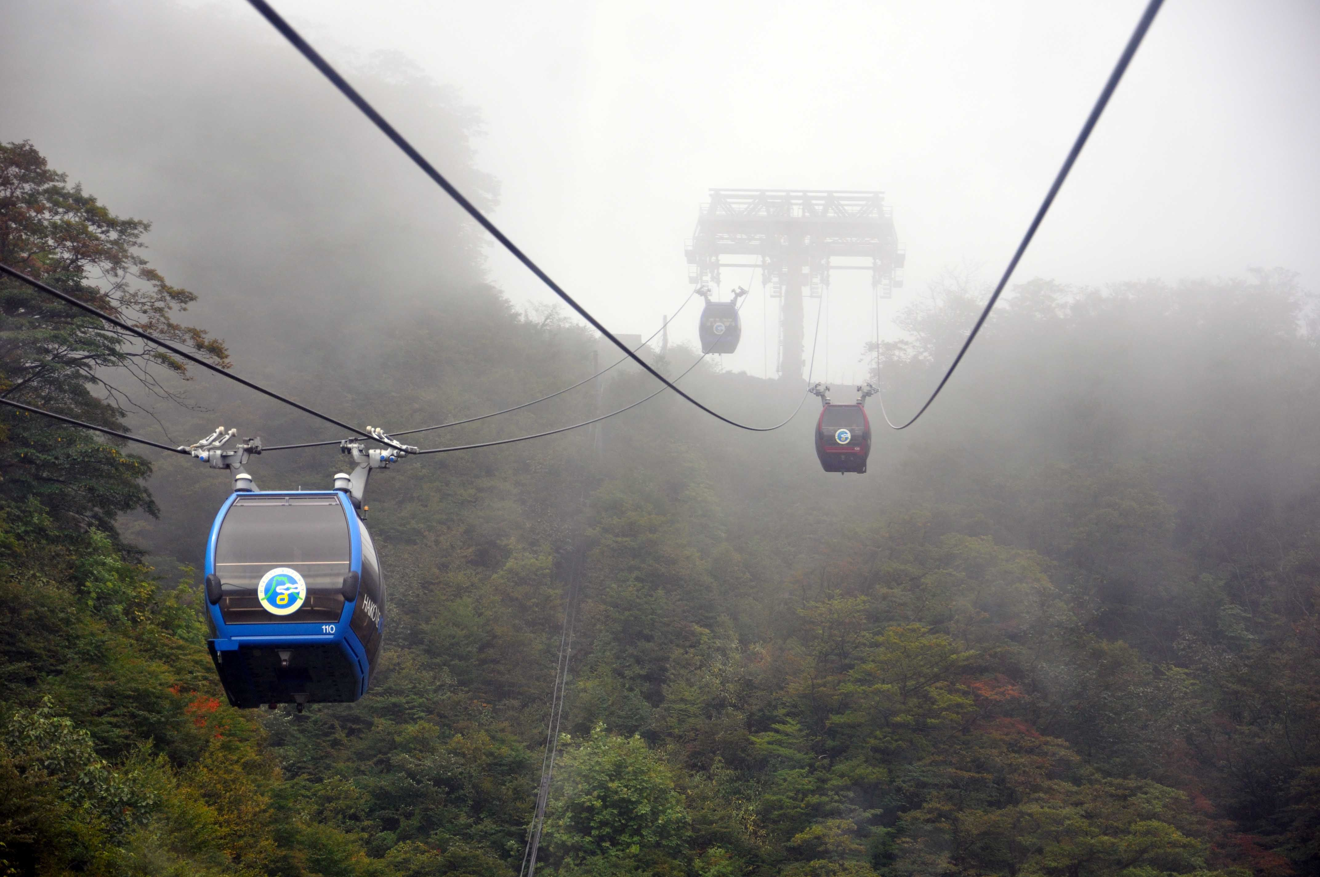 Hakone cable car - This is from an travel log of visiting the Hakone / Mt. Fuji area of Japan. There are more pctures to see!