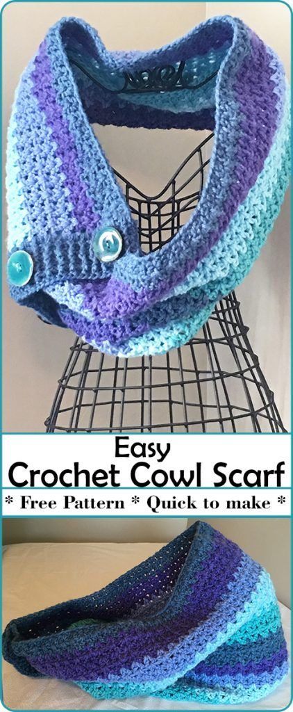 The Easy Crochet Cowl Scarf Is Designed To Whip Up Quickly With A