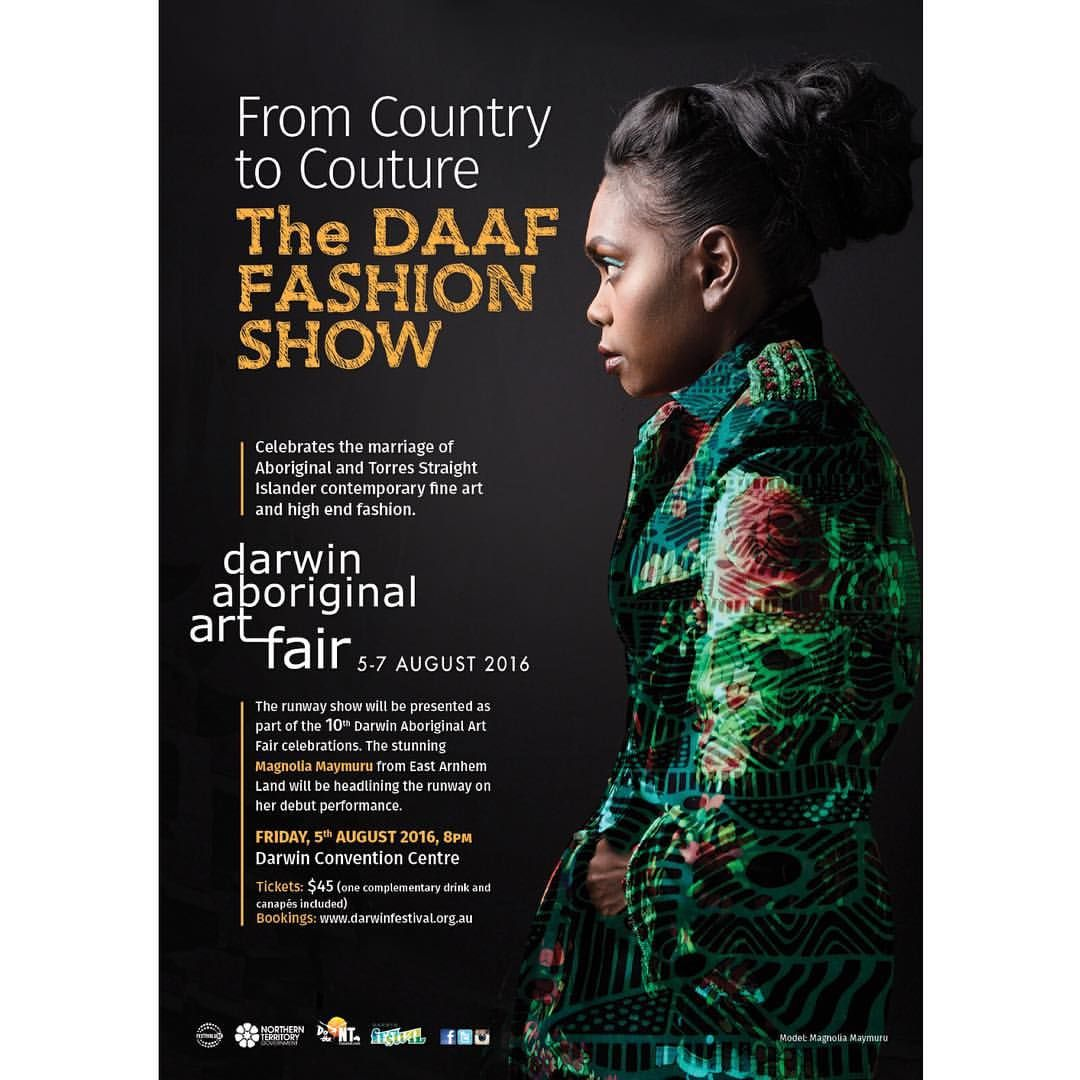 "57 Likes, 1 Comments - Darwin Aboriginal Art Fair (@darwinartfair) on Instagram: ""We're getting excited for the DAAF Fashion Show! Friday August 5, Darwin Convention Centre. Tickets…"""
