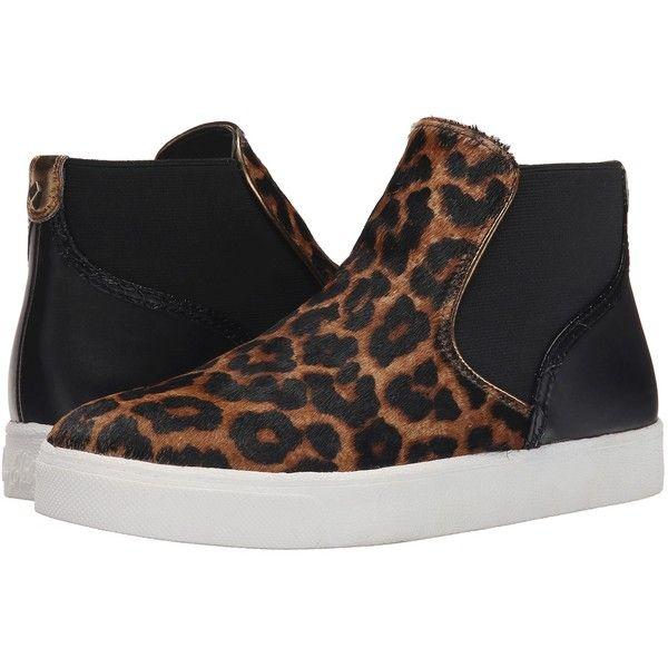 Womens Shoes Sam Edelman Margot Brown/Black Sahara Leopard Brahma Hair/Oily Velour Suede